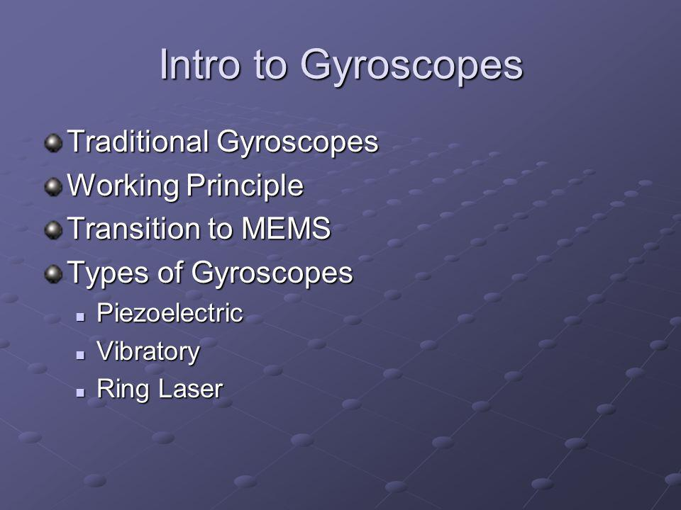 Intro to Gyroscopes Traditional Gyroscopes Working Principle