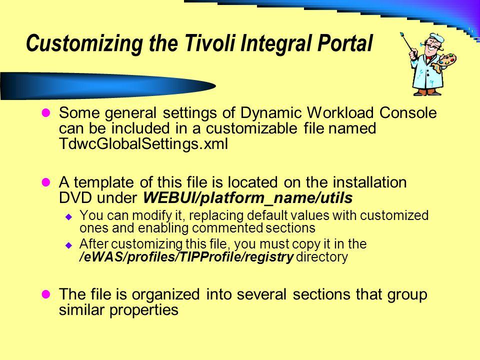 Customizing the Tivoli Integral Portal