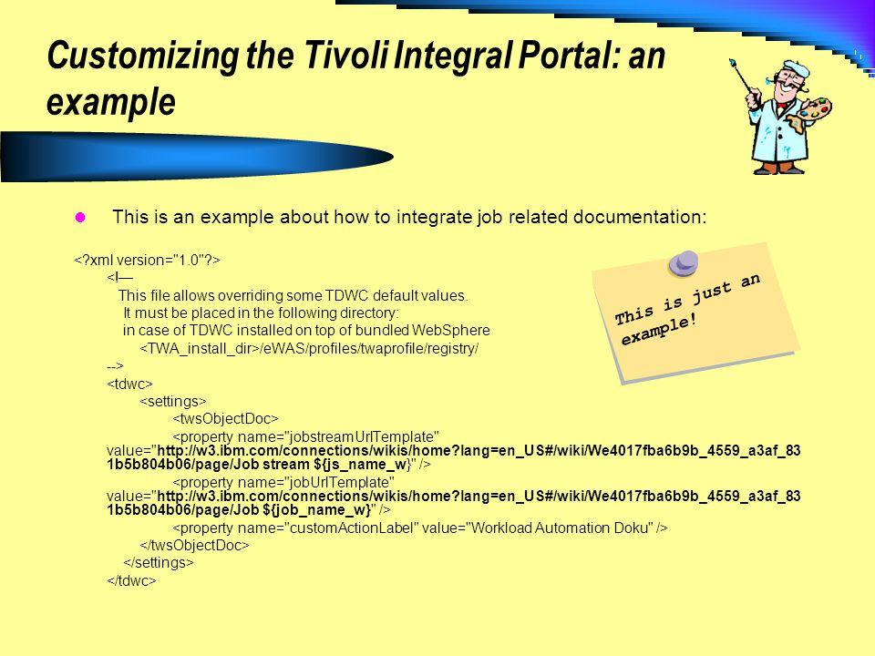 Customizing the Tivoli Integral Portal: an example