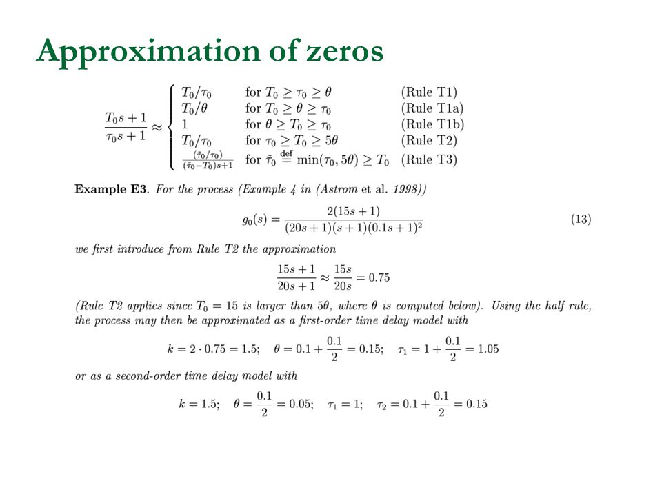Approximation of zeros