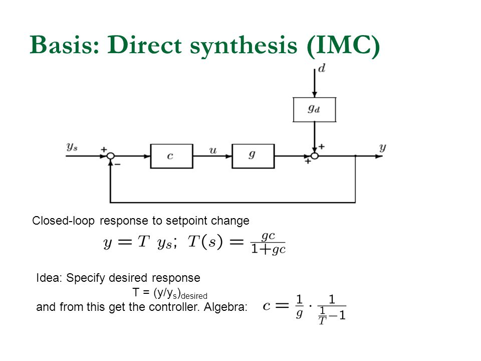 Basis: Direct synthesis (IMC)