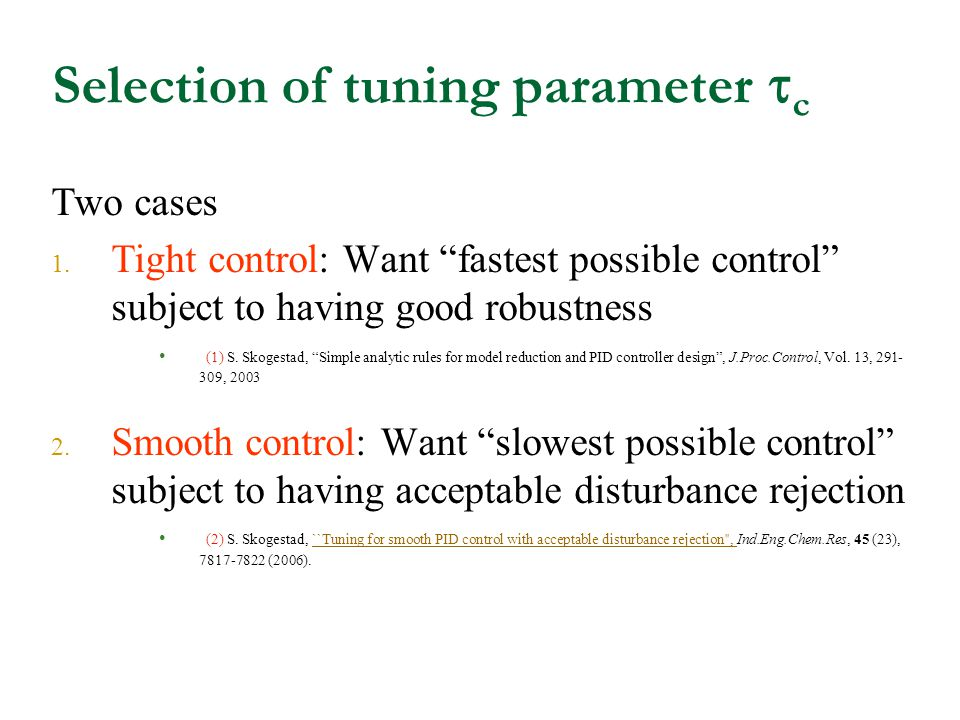 Selection of tuning parameter c