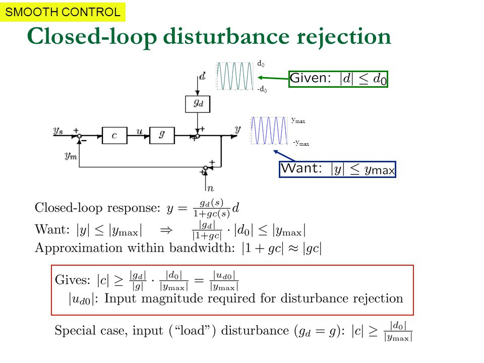 Closed-loop disturbance rejection