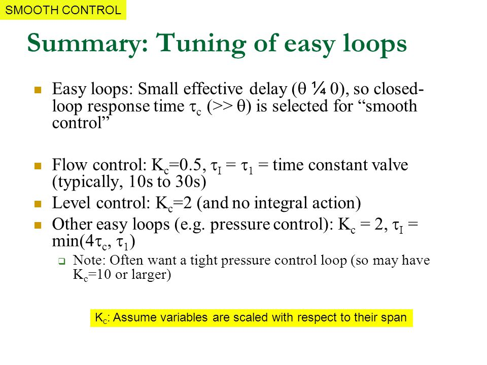 Summary: Tuning of easy loops