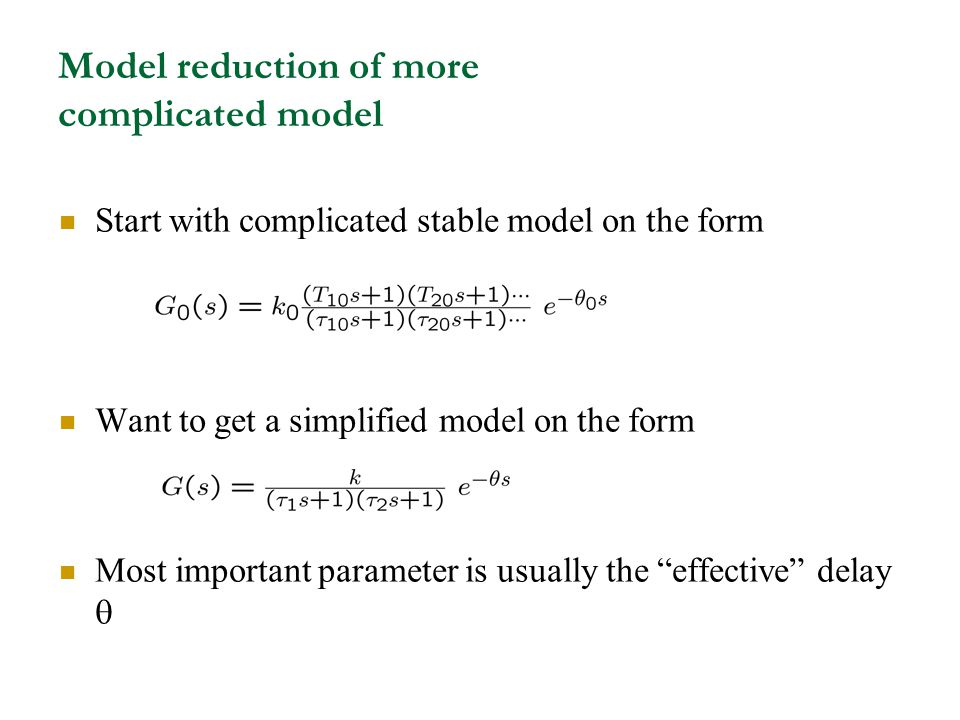 Model reduction of more complicated model