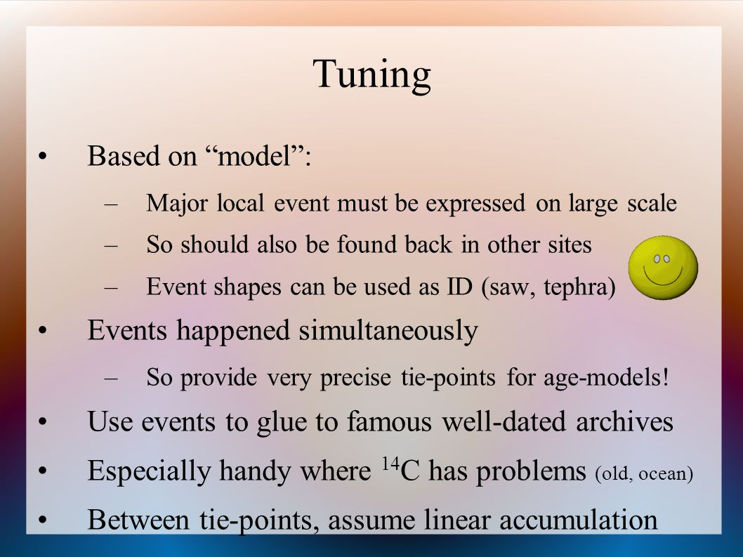 Tuning Based on model : Events happened simultaneously