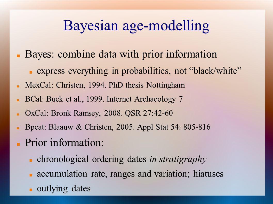 Bayesian age-modelling