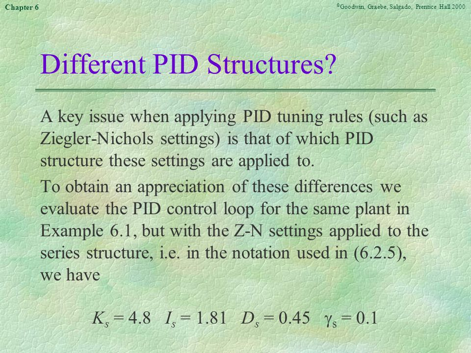 Different PID Structures