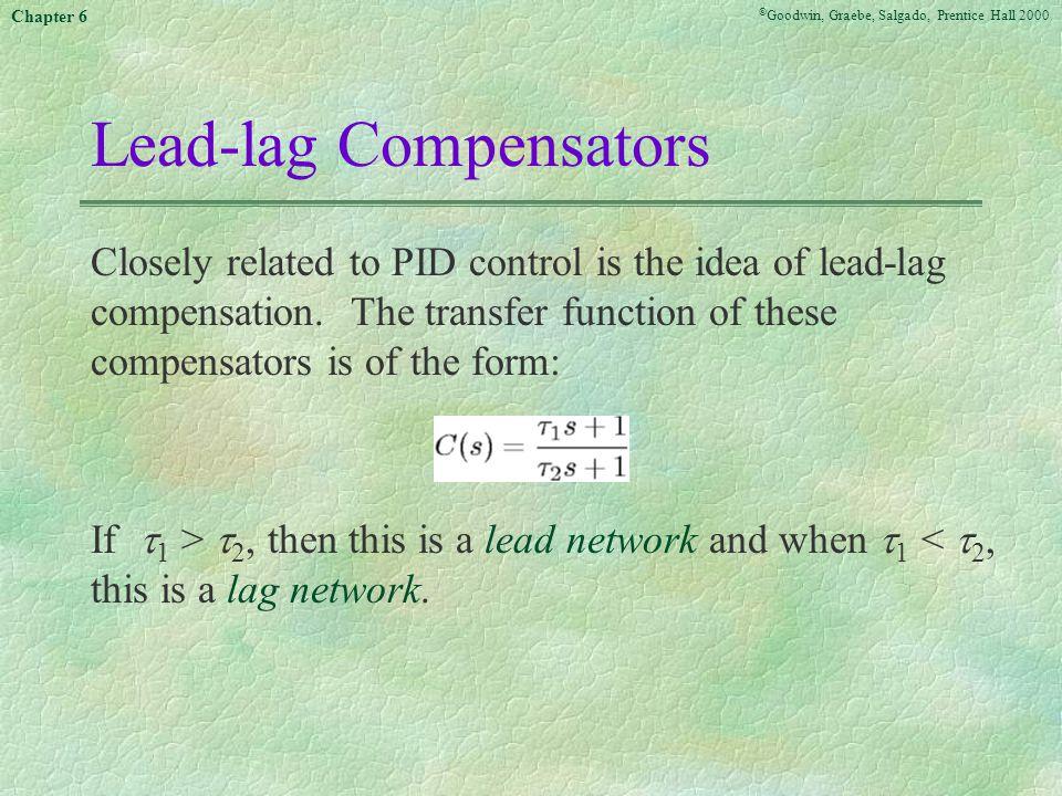 Lead-lag Compensators