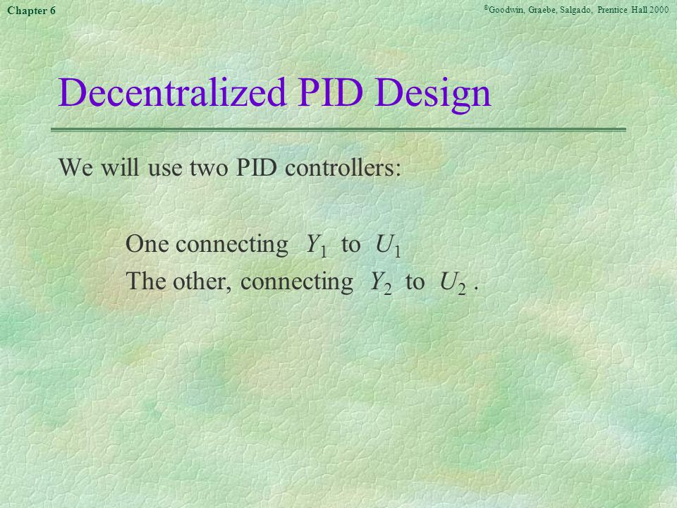Decentralized PID Design