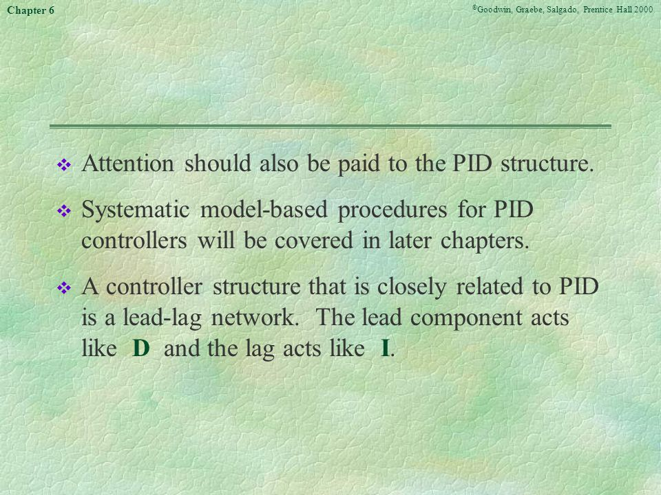 Attention should also be paid to the PID structure.