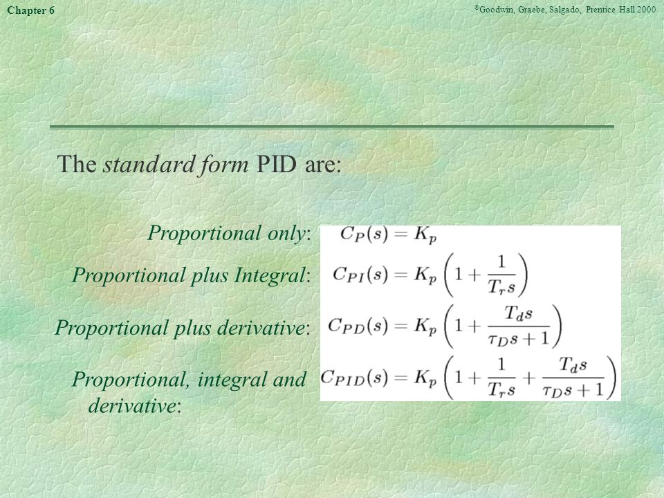 The standard form PID are: