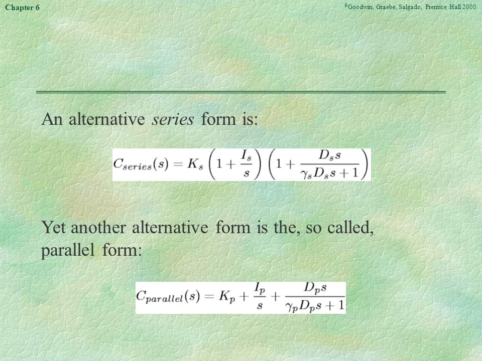 An alternative series form is: