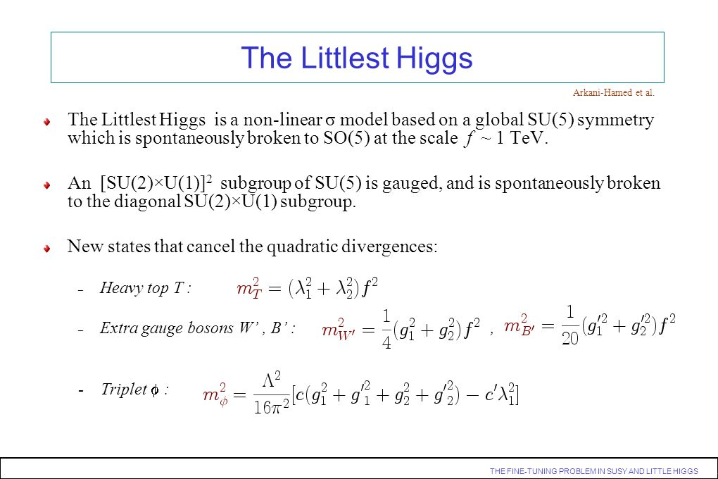 The Littlest Higgs Arkani-Hamed et al.