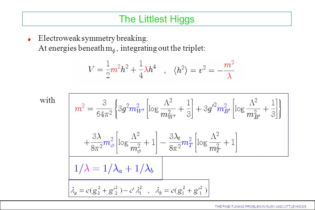 The Littlest Higgs Electroweak symmetry breaking.