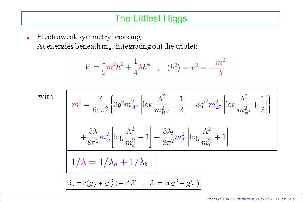 The Littlest Higgs Electroweak symmetry breaking.