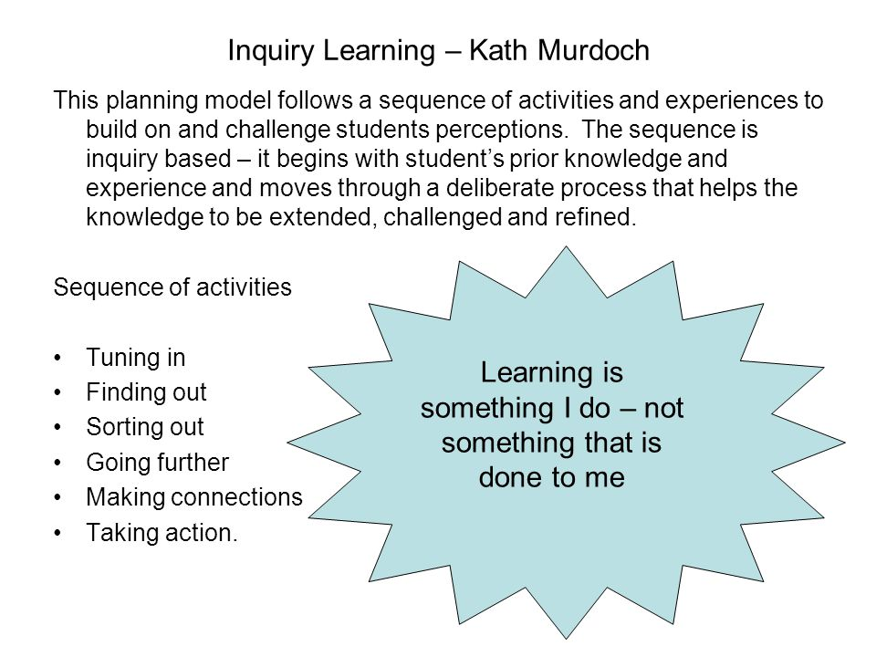 Inquiry Learning – Kath Murdoch