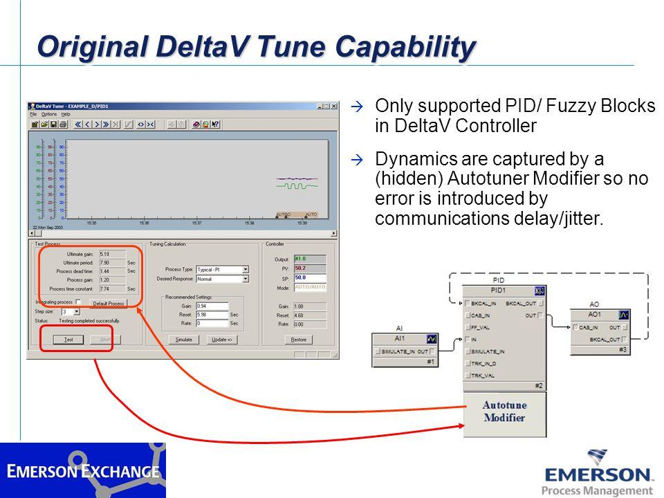 Original DeltaV Tune Capability