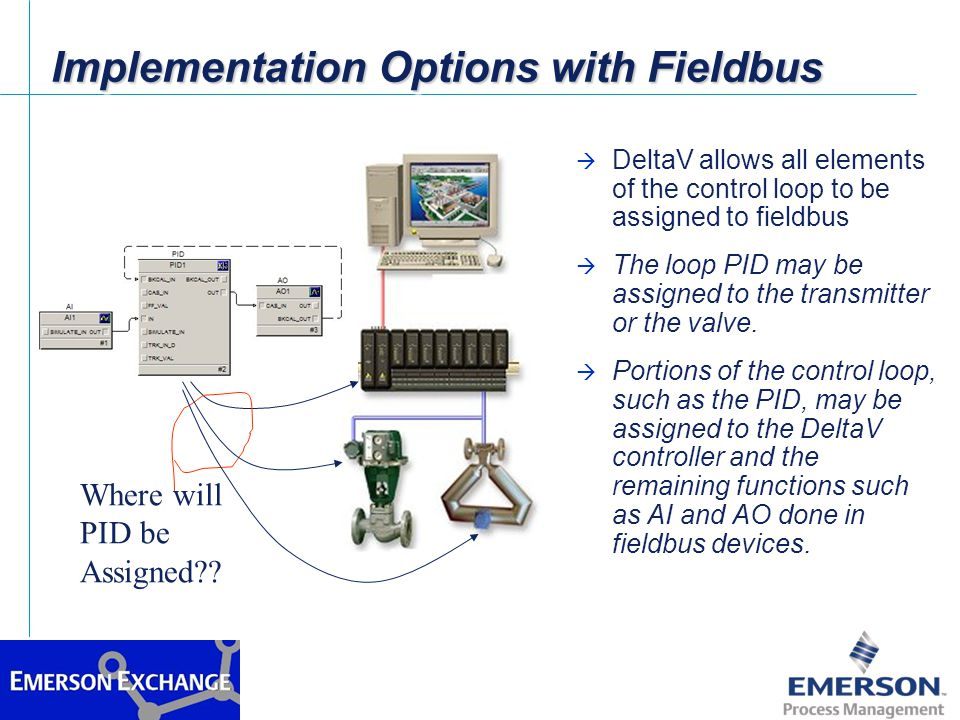 Implementation Options with Fieldbus