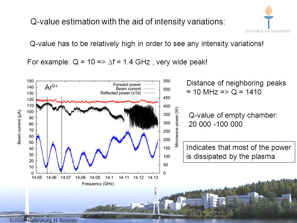 Q-value estimation with the aid of intensity variations: