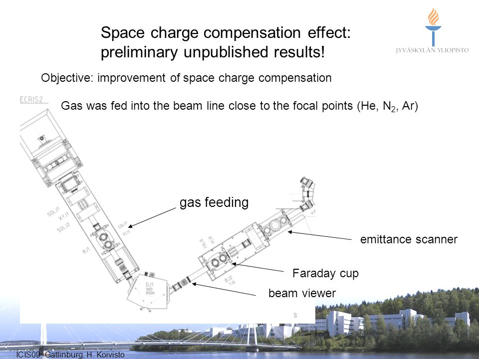 Space charge compensation effect: preliminary unpublished results!