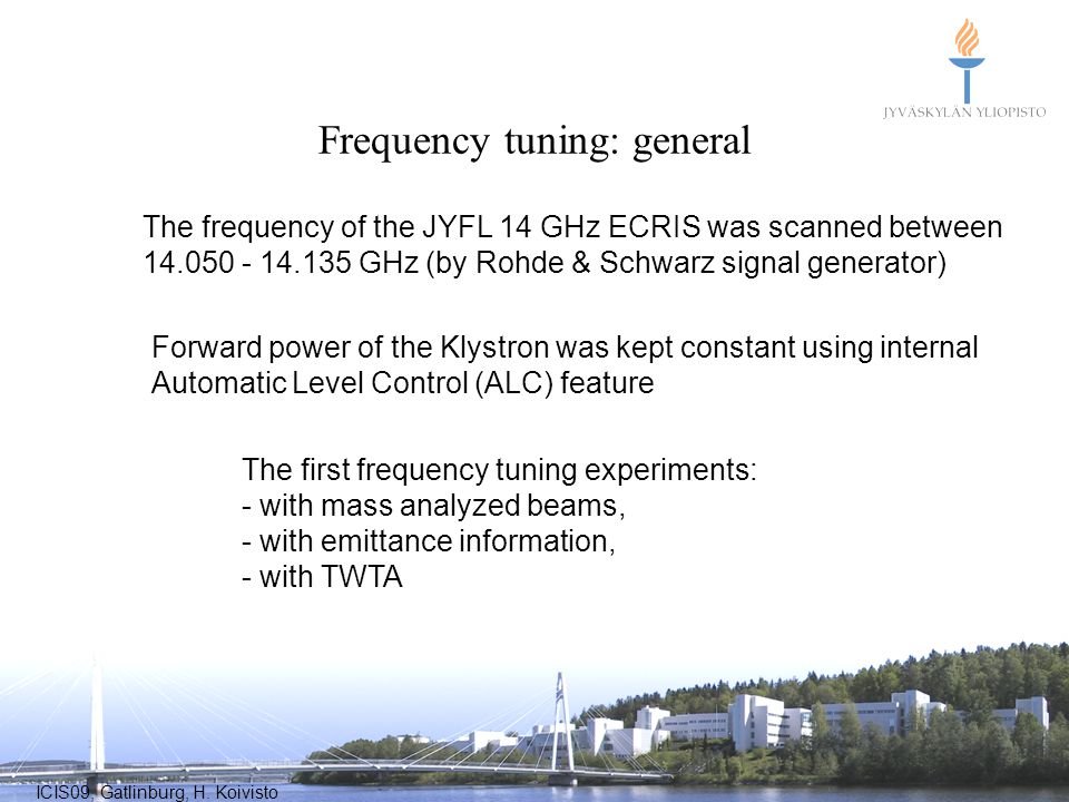 Frequency tuning: general