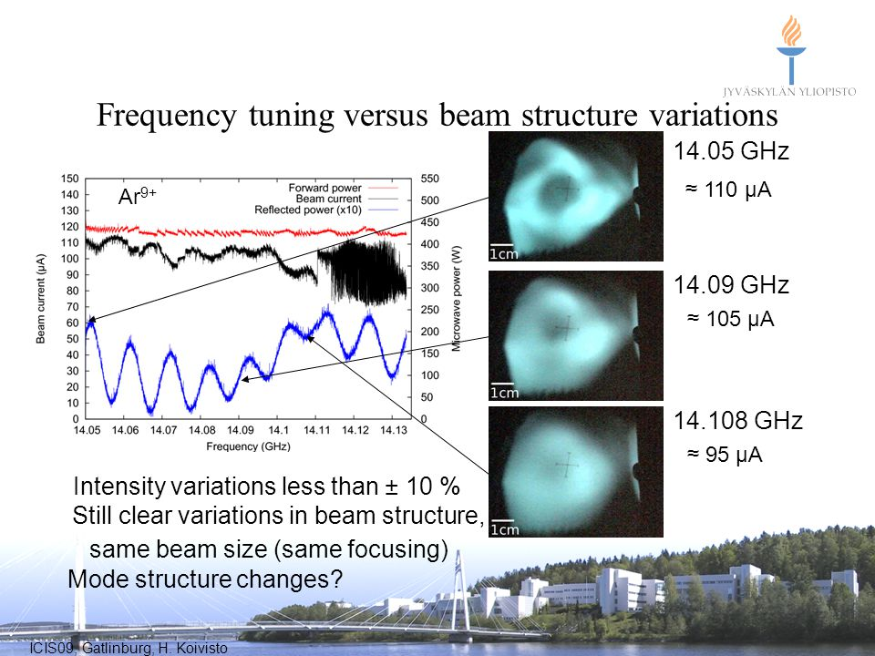 Frequency tuning versus beam structure variations