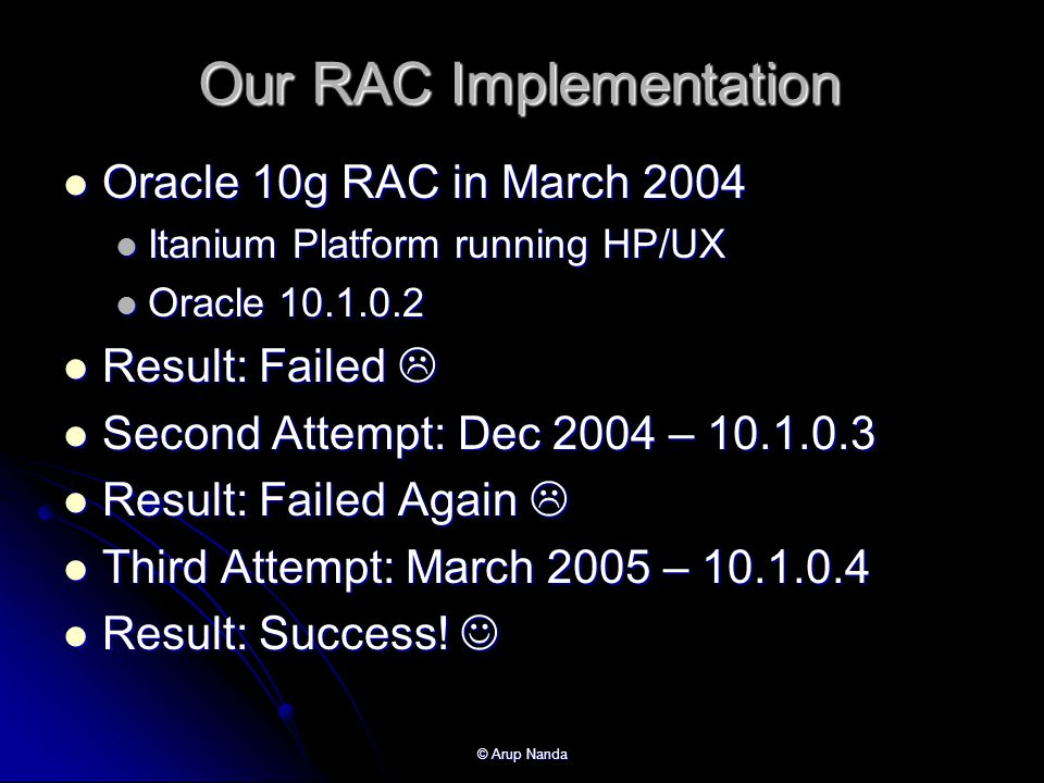 Our RAC Implementation