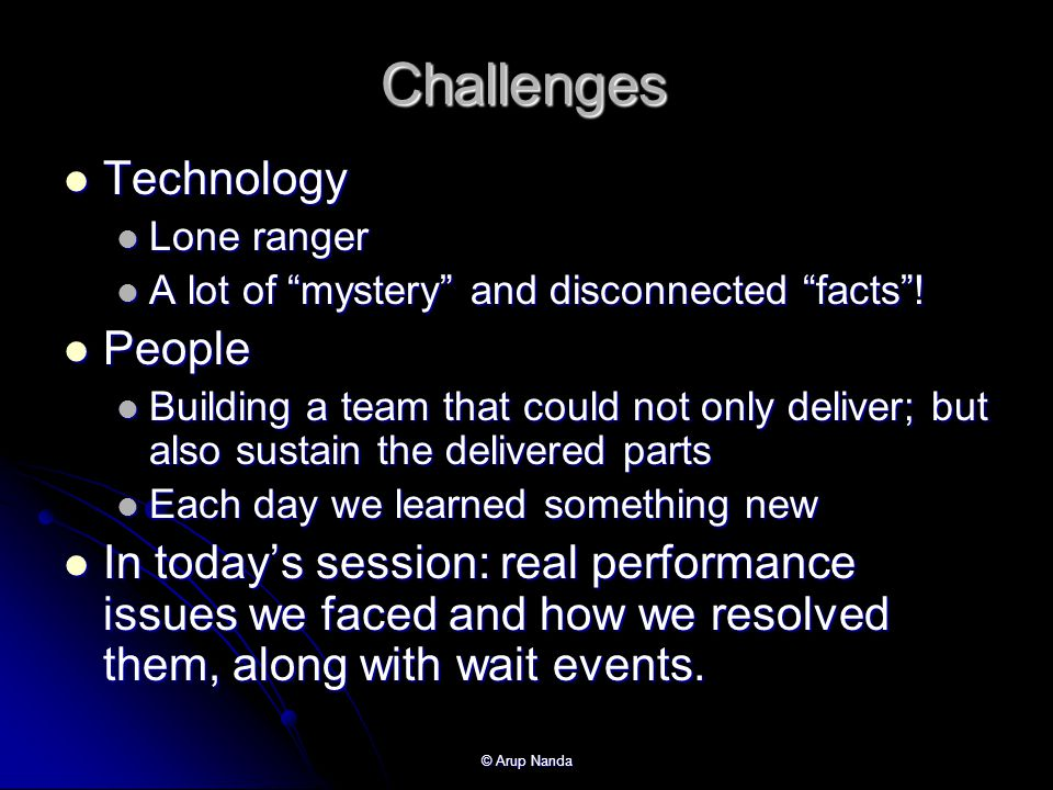 Challenges Technology People