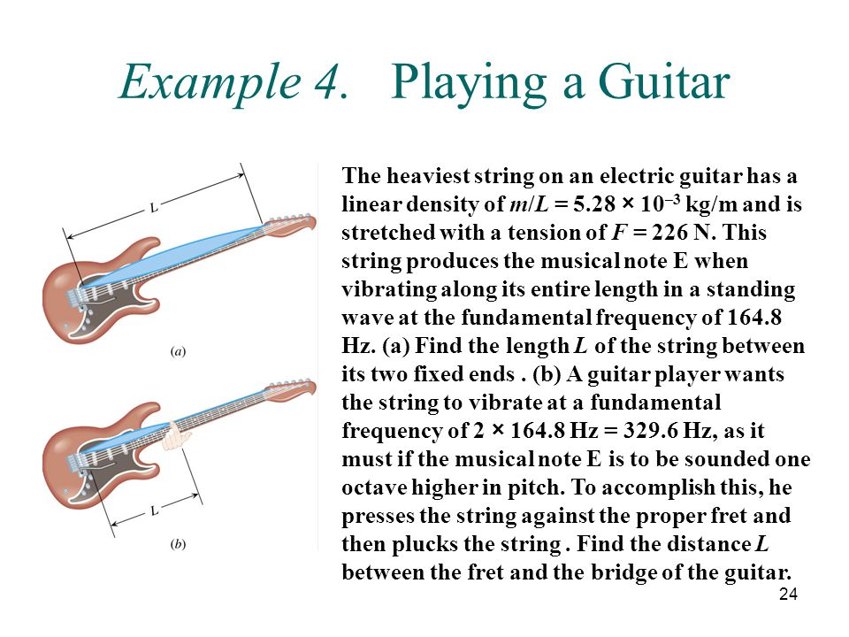 Example 4. Playing a Guitar