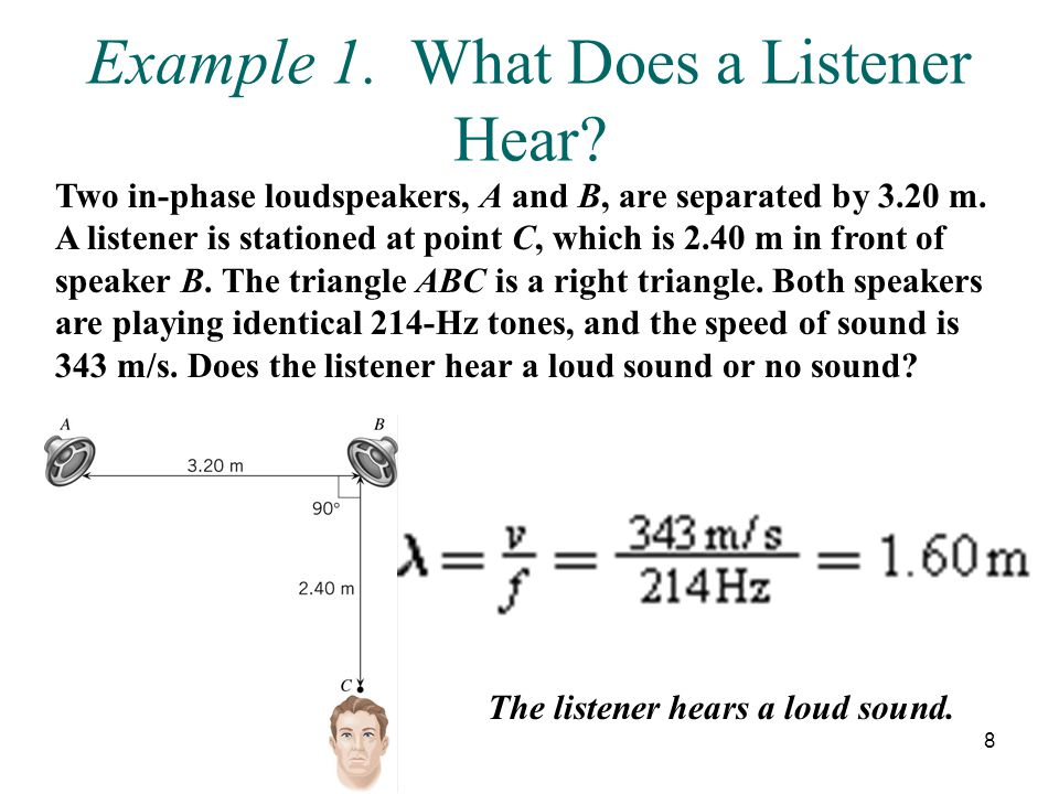 Example 1. What Does a Listener Hear