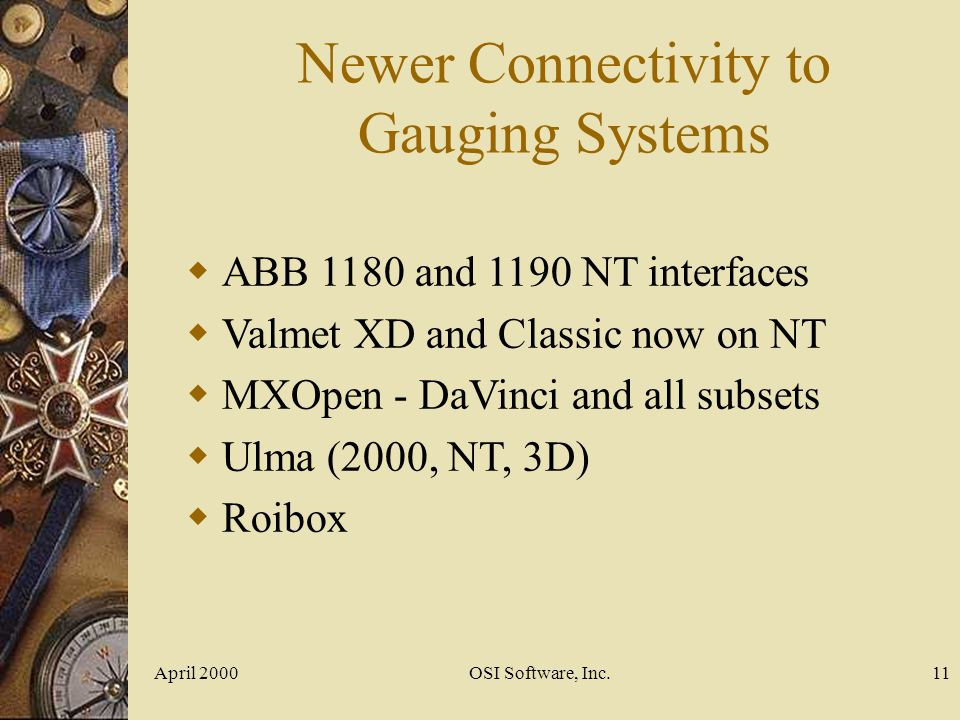 Newer Connectivity to Gauging Systems