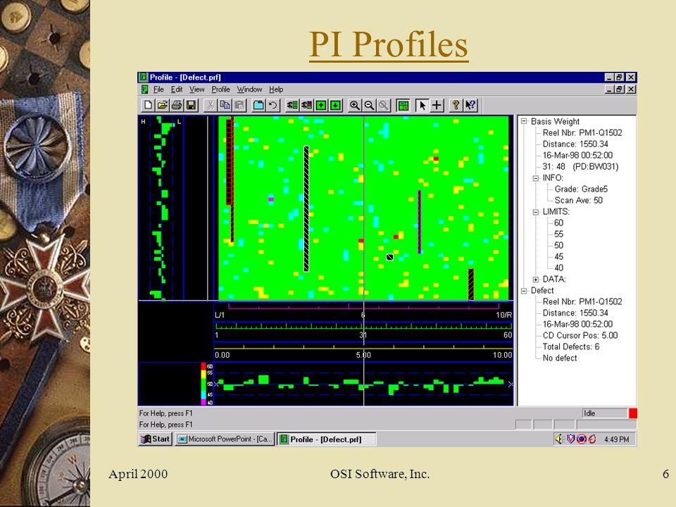 PI Profiles April 2000 OSI Software, Inc.