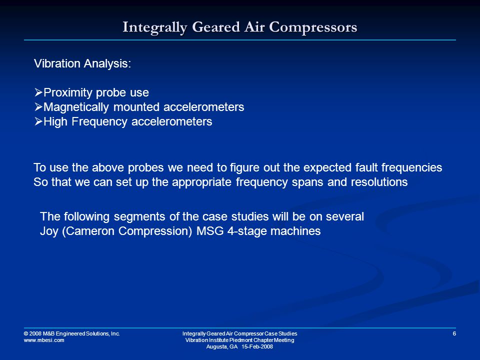 Integrally Geared Air Compressors