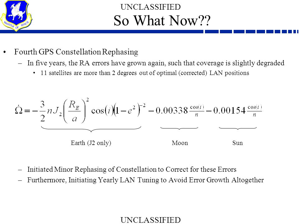 So What Now Fourth GPS Constellation Rephasing