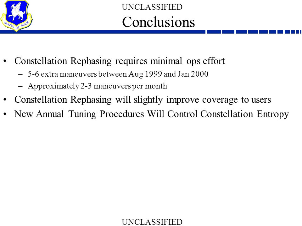 Conclusions Constellation Rephasing requires minimal ops effort