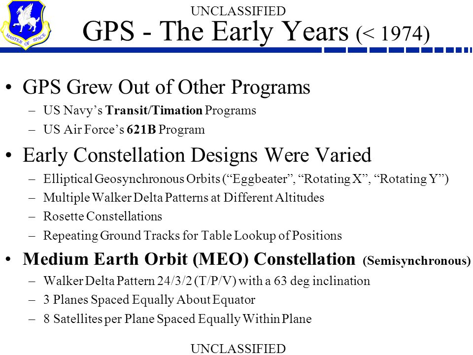 GPS - The Early Years (< 1974)