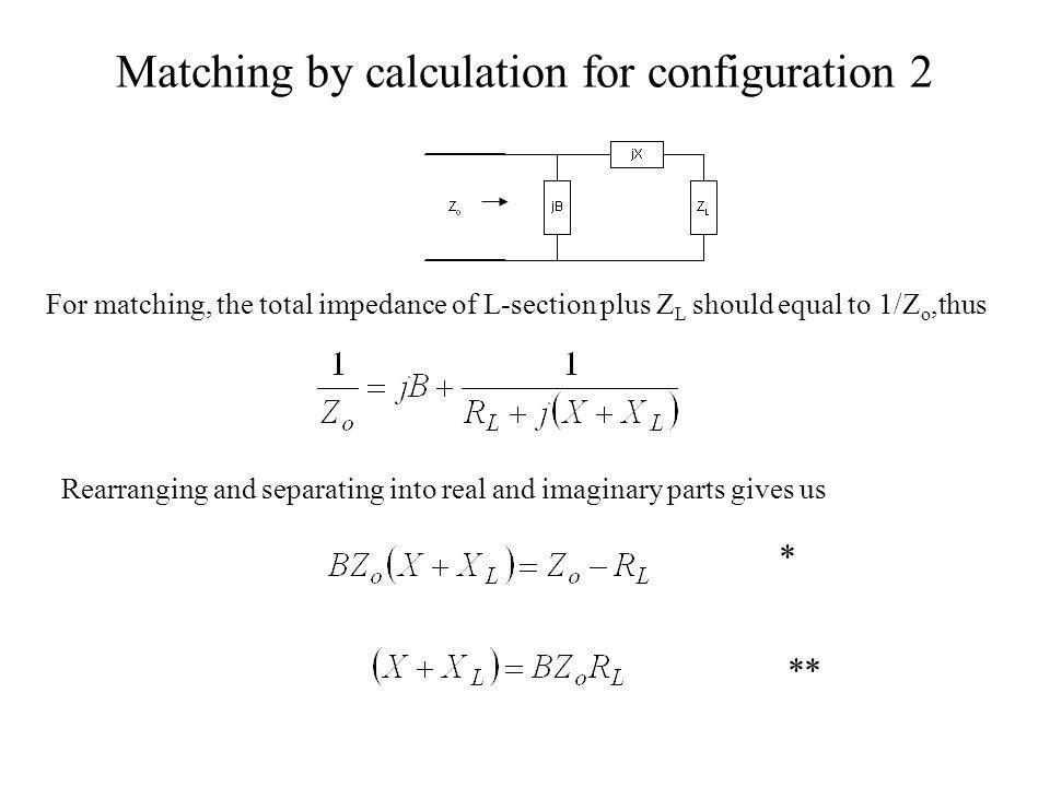 Matching by calculation for configuration 2