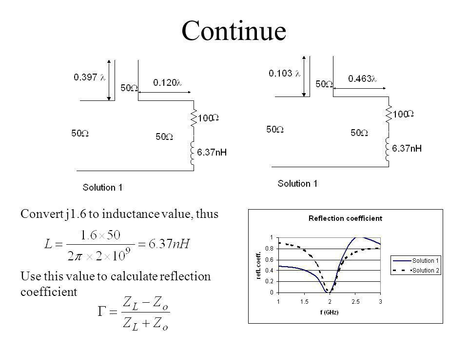 Continue Convert j1.6 to inductance value, thus