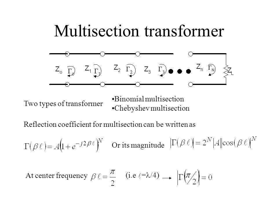 Multisection transformer