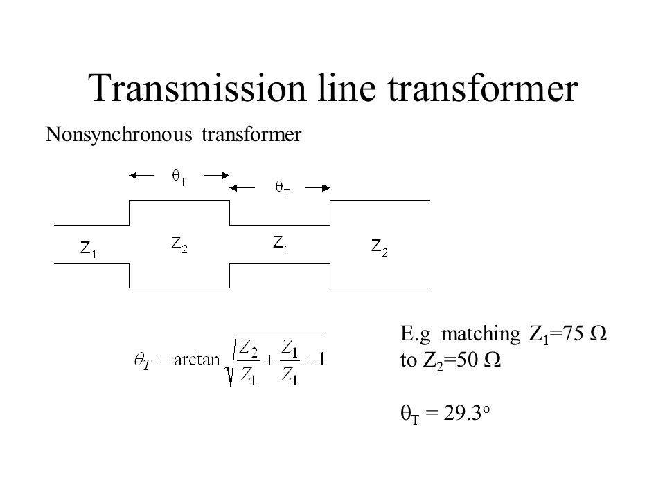 Transmission line transformer