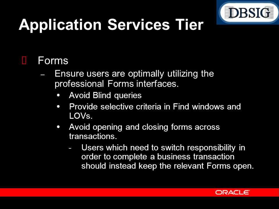 Application Services Tier