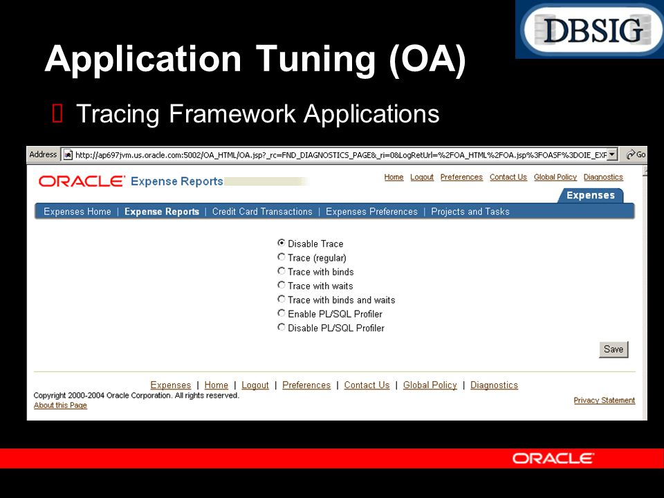 Application Tuning (OA)