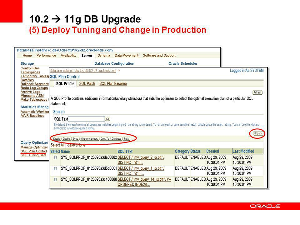 10.2  11g DB Upgrade (5) Deploy Tuning and Change in Production