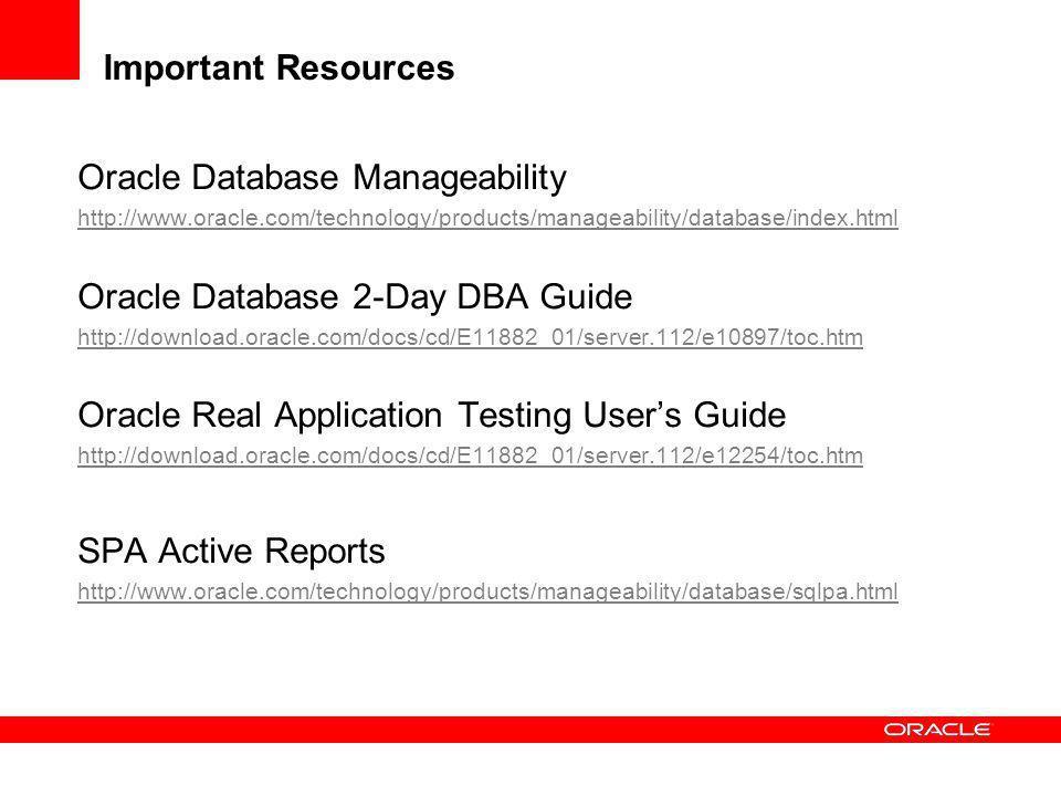 Oracle Database Manageability