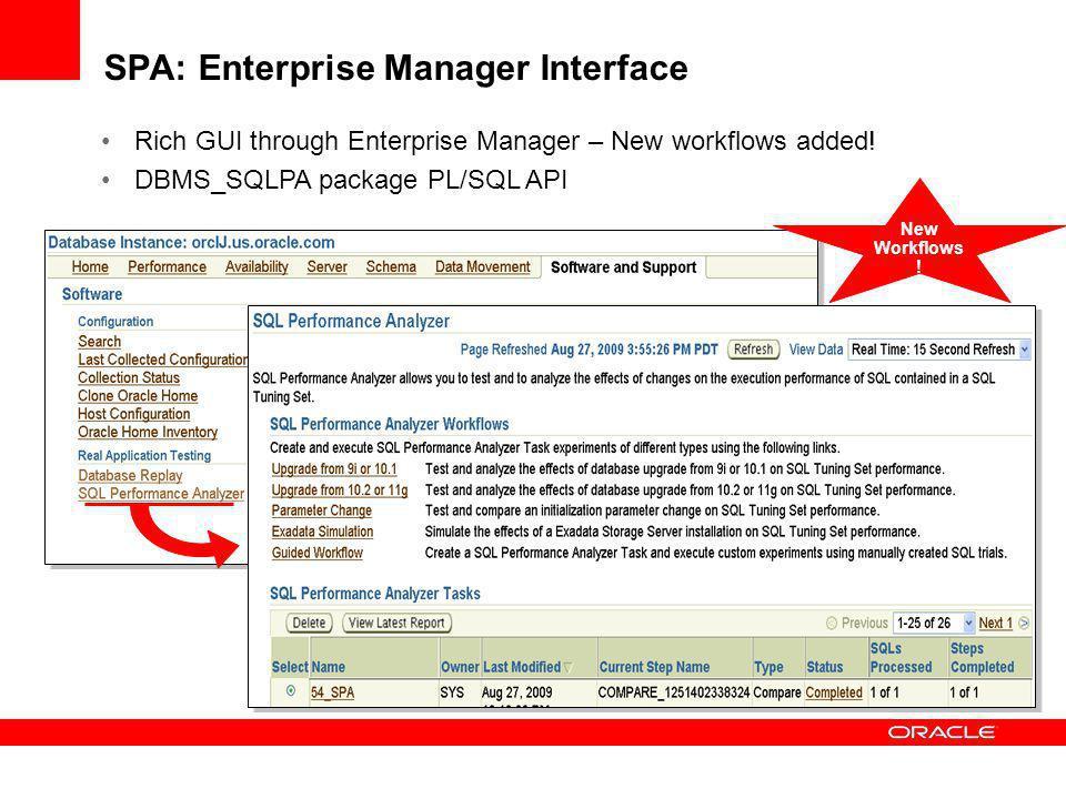 SPA: Enterprise Manager Interface
