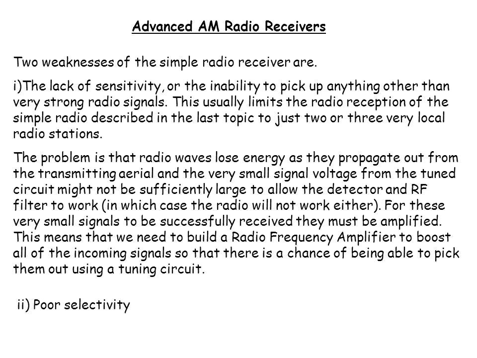 Advanced AM Radio Receivers
