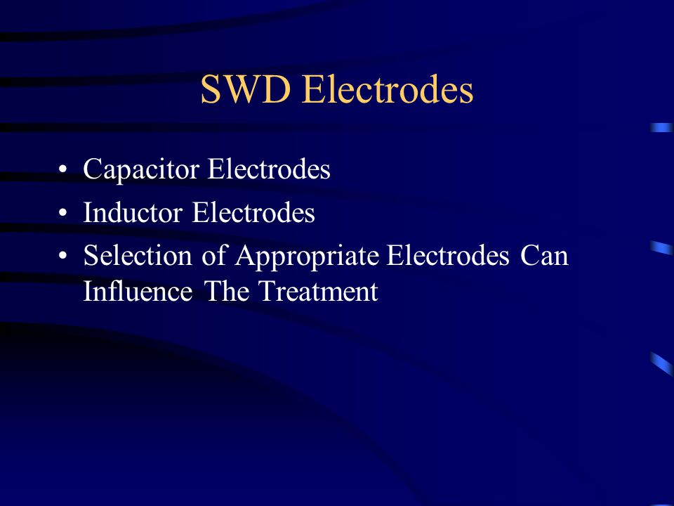 SWD Electrodes Capacitor Electrodes Inductor Electrodes