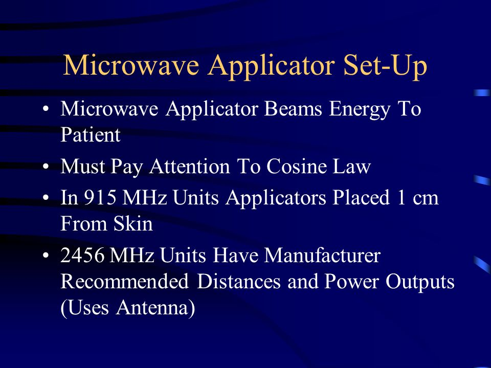 Microwave Applicator Set-Up
