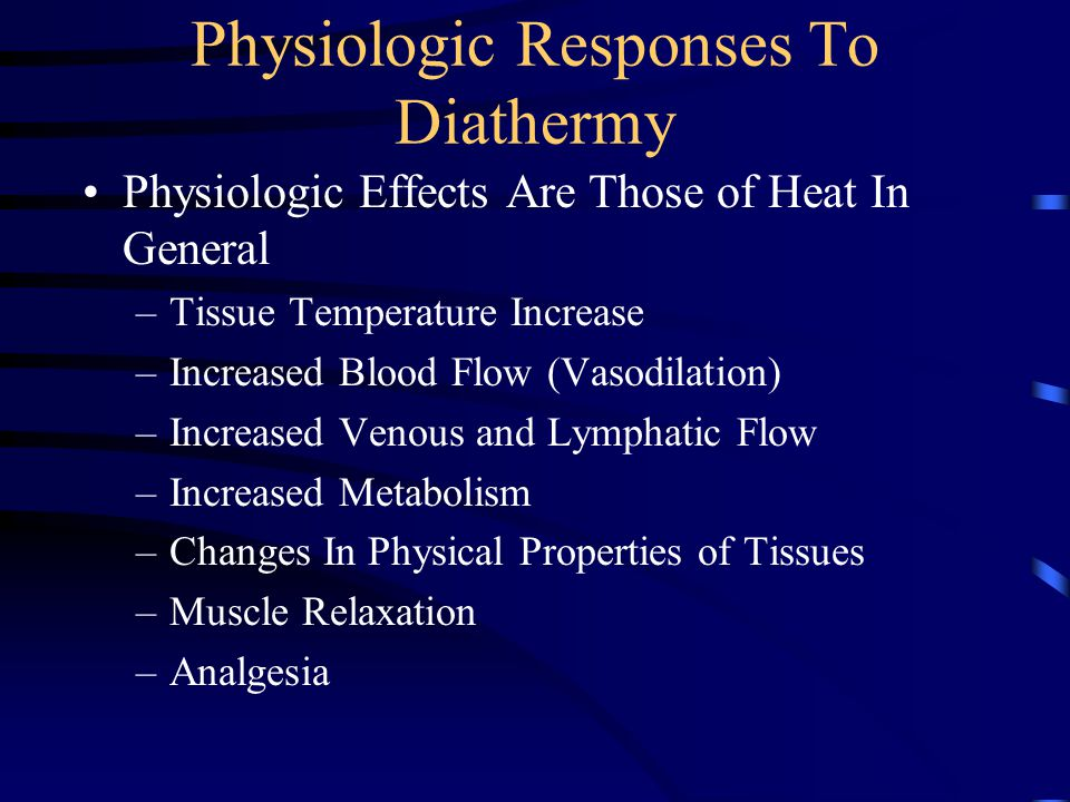 Physiologic Responses To Diathermy